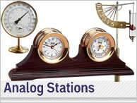 Analog Weather Stations and Barometers