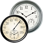 Great Analog Clock/Thermometer Combos