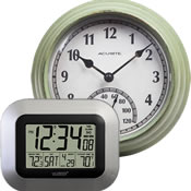 Wall Clocks With Thermometers
