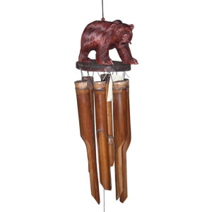 Cohasset Bear with Salmon Bamboo Windchime