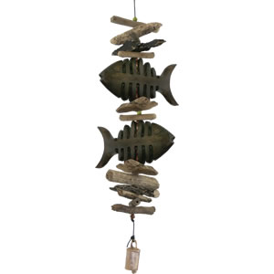Cohasset Bone Fish Double Driftwood Mobile