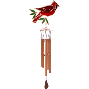 Gift Essentials Stained Glass Cardinal Wind Chime
