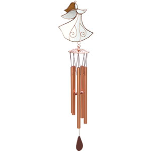 Gift Essentials Stained Glass Angel Wind Chime
