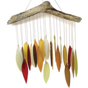 Gift Essentials Glass Autumn Leaves Wind Chime