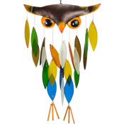 Gift Essentials Glass Owl Wind Chime