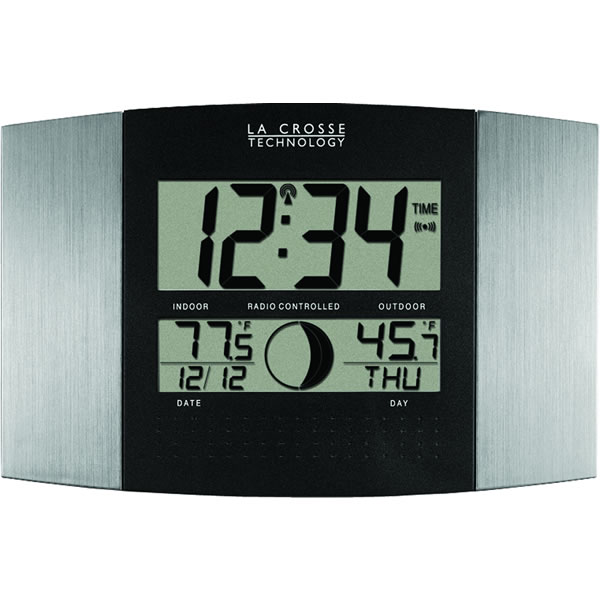 Clock with thermometer clock outdoor temperature outdoor la crosse technology ws 8117u it gumiabroncs Choice Image