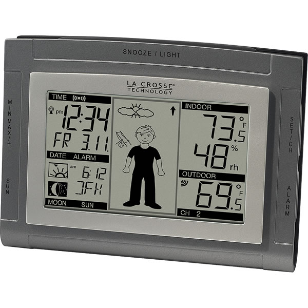 la crosse technology weather station how to set time