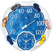 Analog Clock/Thermometer Combos