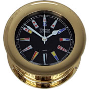 Weems & Plath Atlantis Nautical Flag Clocks