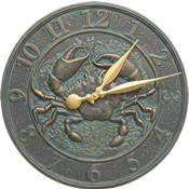 Whitehall Crab Sea Life Wall Clock