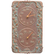 Whitehall Acanthus Wall Clock & Thermometer