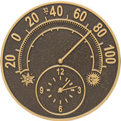 Whitehall Solstice Wall Clock & Thermometer