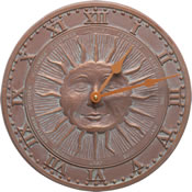 Whitehall Sunface Wall Clock