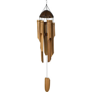 Woodstock Half Coconut Bamboo Windchime - Large