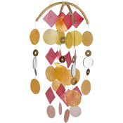 Woodstock Yellow / Gold / Red Capiz Chime