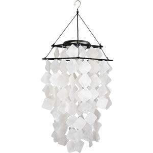 Woodstock Capiz Solar Chime - White Diamonds